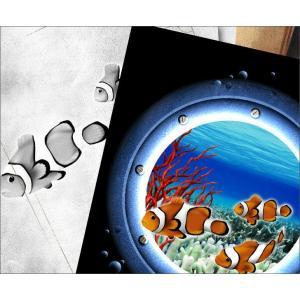 Tシャツ クマノミ 海 夏 半袖 長袖 XS S M L XL XXL XXXL 2L 3L 4L サイズ メンズ レディース JewelBox -Amphiprion clarkii-|genju|02