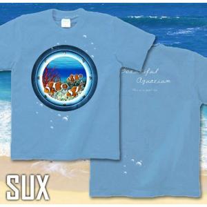Tシャツ クマノミ 海 夏 半袖 長袖 XS S M L XL XXL XXXL 2L 3L 4L サイズ メンズ レディース JewelBox -Amphiprion clarkii-|genju|03
