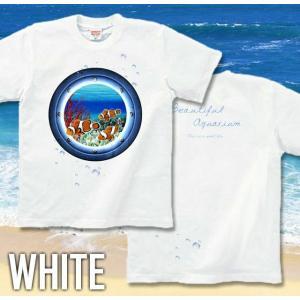 Tシャツ クマノミ 海 夏 半袖 長袖 XS S M L XL XXL XXXL 2L 3L 4L サイズ メンズ レディース JewelBox -Amphiprion clarkii-|genju|06