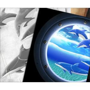 Tシャツ イルカ 海 夏 半袖 長袖 XS S M L XL XXL XXXL 2L 3L 4L サイズ メンズ レディース JewelBox -Dolphin-|genju|02