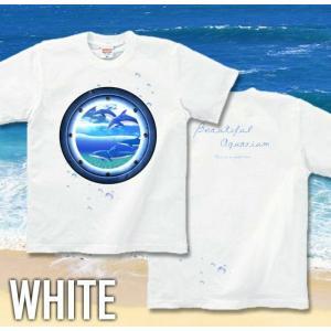 Tシャツ イルカ 海 夏 半袖 長袖 XS S M L XL XXL XXXL 2L 3L 4L サイズ メンズ レディース JewelBox -Dolphin-|genju|03