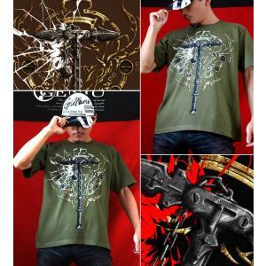 Tシャツ 武器 半袖 長袖 XS S M L XL XXL XXXL 2L 3L 4L サイズ メンズ レディース Sword Field -Thor's Hammer-|genju|03