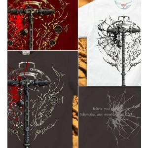 Tシャツ 武器 半袖 長袖 XS S M L XL XXL XXXL 2L 3L 4L サイズ メンズ レディース Sword Field -Thor's Hammer-|genju|04