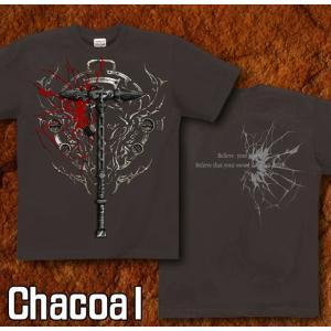 Tシャツ 武器 半袖 長袖 XS S M L XL XXL XXXL 2L 3L 4L サイズ メンズ レディース Sword Field -Thor's Hammer-|genju|08