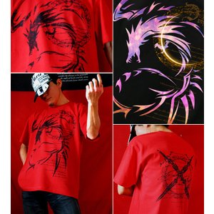 Tシャツ ドラゴン 竜 半袖 長袖 XS S M L XL XXL XXXL 2L 3L 4L ファイナル ファンタジー サイズ メンズ レディース Dragons Crest|genju|03