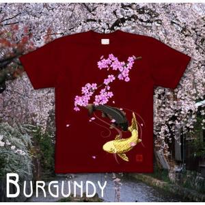 Tシャツ 鯉 和柄 半袖 長袖 XS S M L XL XXL XXXL 2L 3L 4L サイズ メンズ レディース 桜河|genju|09