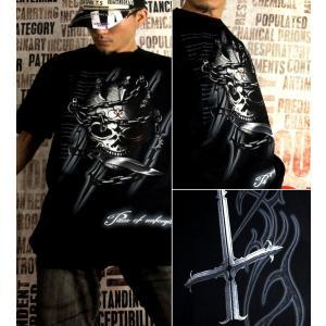 Tシャツ スカル 逆十字 ロック メタル 半袖 長袖 XS S M L XL XXL XXXL 2L 3L 4L サイズ メンズ レディース Pain of Unforgiven|genju|02