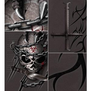 Tシャツ スカル 逆十字 ロック メタル 半袖 長袖 XS S M L XL XXL XXXL 2L 3L 4L サイズ メンズ レディース Pain of Unforgiven|genju|05