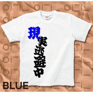 Tシャツ バカT 半袖 長袖 XS S M L XL XXL XXXL 2L 3L 4L サイズ メンズ レディース 現実逃避中|genju|04