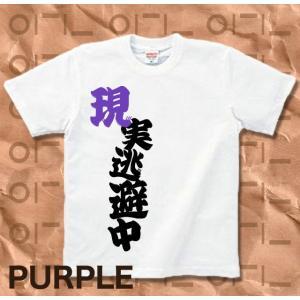 Tシャツ バカT 半袖 長袖 XS S M L XL XXL XXXL 2L 3L 4L サイズ メンズ レディース 現実逃避中|genju|07