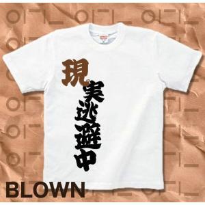 Tシャツ バカT 半袖 長袖 XS S M L XL XXL XXXL 2L 3L 4L サイズ メンズ レディース 現実逃避中|genju|08