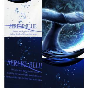 メール便なら送料180円〜 Tシャツ クジラ 鯨 長袖あり XS S M L XL XXL 2L 3L SERENE BLUE -WHALE-|genju|03