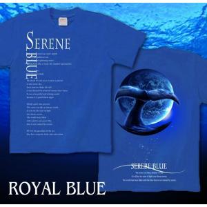 メール便なら送料180円〜 Tシャツ クジラ 鯨 長袖あり XS S M L XL XXL 2L 3L SERENE BLUE -WHALE-|genju|06
