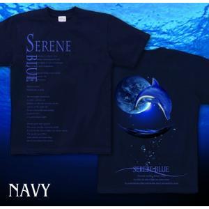 Tシャツ イルカ 夏 海 半袖 長袖 XS S M L XL XXL XXXL 2L 3L 4L サイズ メンズ レディース SERENE BLUE -DOLPHIN-|genju|06