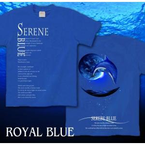 Tシャツ イルカ 夏 海 半袖 長袖 XS S M L XL XXL XXXL 2L 3L 4L サイズ メンズ レディース SERENE BLUE -DOLPHIN-|genju|07
