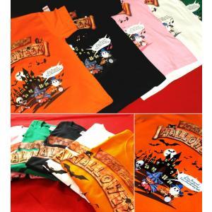 Tシャツ ハロウィン コスプレ 仮装 カボチャ 幽霊 スカル イベント スポーツジム XS S M L XL XXL XXXL 3L 4L Halloween Concert|genju|02