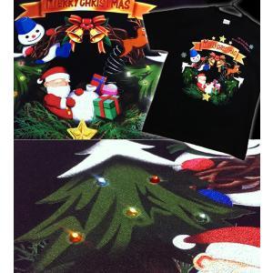 Tシャツ クリスマス 雪だるま プレゼント イベント スポーツジム 半袖 長袖 XS S M L XL XXL XXXL 2L 3L 4L Happy Xtmas|genju|03