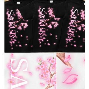 Tシャツ 桜 花見 イベント 半袖 長袖 XS S M L XL XXL XXXL 2L 3L 4L サイズ メンズ レディース 桜花-SAKURA-|genju|03