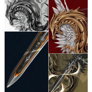 Tシャツ ドラゴン 竜 半袖 長袖 XS S M L XL XXL XXXL XXXL 2L 3L 4L サイズ Sword Field -Excalibur-|genju|04