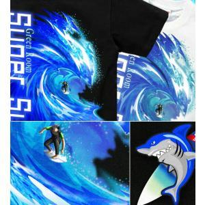 メール便なら送料180円〜 サーフボード Tシャツ 海 夏 サーフィン 長袖あり XS S M L XL XXL 2L 3L SUPER SURF|genju|02