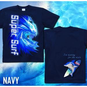 メール便なら送料180円〜 サーフボード Tシャツ 海 夏 サーフィン 長袖あり XS S M L XL XXL 2L 3L SUPER SURF|genju|05