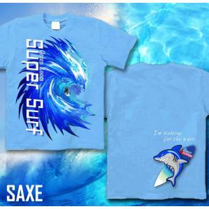 メール便なら送料180円〜 サーフボード Tシャツ 海 夏 サーフィン 長袖あり XS S M L XL XXL 2L 3L SUPER SURF|genju|07