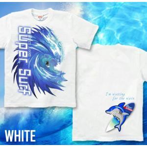 メール便なら送料180円〜 サーフボード Tシャツ 海 夏 サーフィン 長袖あり XS S M L XL XXL 2L 3L SUPER SURF|genju|08