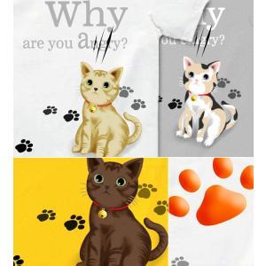 Tシャツ 可愛い 猫 ネコ キュート にくきゅう 半袖 長袖 XS S M L XL XXL XXXL XXXL 3L 4L サイズ メンズ レディース Little Cute|genju|03