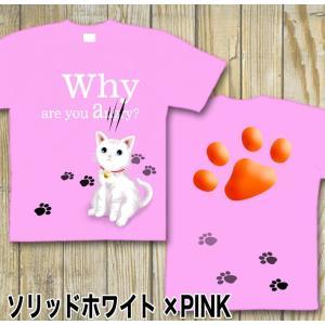 Tシャツ 可愛い 猫 ネコ キュート にくきゅう 半袖 長袖 XS S M L XL XXL XXXL XXXL 3L 4L サイズ メンズ レディース Little Cute|genju|09