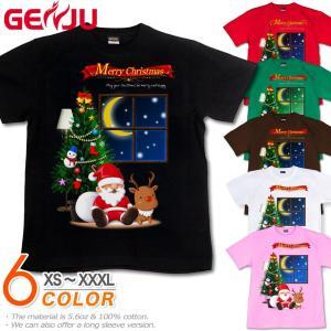 Tシャツ クリスマス イベント tシャツ 雪だるま サンタクロース トナカイ スポーツジム イベント 仮装 XtmasSnow|genju