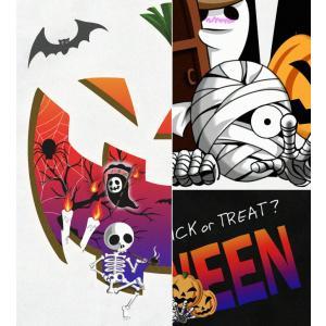 ハロウィン Tシャツ コスプレ 仮装 tシャツ カボチャ スカル 幽霊 Halloween XS S M L XL XXL XXXL XXXL 3L 4L サイズ メンズ レディース Halloween Unicerse|genju|04