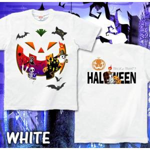 ハロウィン Tシャツ コスプレ 仮装 tシャツ カボチャ スカル 幽霊 Halloween XS S M L XL XXL XXXL XXXL 3L 4L サイズ メンズ レディース Halloween Unicerse|genju|07