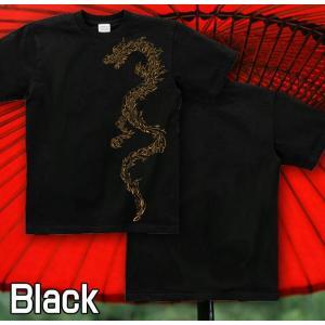 Tシャツ 竜 和柄 半袖 長袖 XS S M L XL XXL XXXL 2L 3L 4L サイズ メンズ レディース 翔龍|genju|03