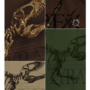 Tシャツ 恐竜 ティラノサウルス Tレックス スカル 半袖 長袖 XS S M L XL XXL XXXL 2L 3L 4L サイズ メンズ レディース TYRANT T-REX|genju|04