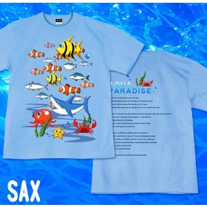 Tシャツ 海 魚 夏 半袖 長袖 XS S M L XL XXL XXXL 2L 3L 4L サイズ メンズ レディース AQUA PARADICE|genju|06