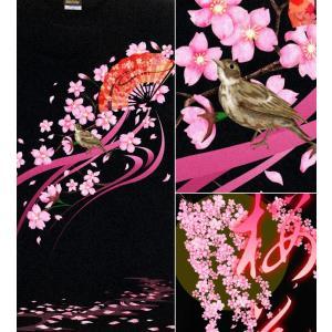 桜 和柄 Tシャツ さくら SAKURA  花見 イベント スポーツジム 半袖 長袖 舞桜|genju|02
