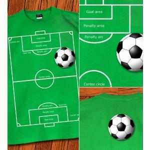 Tシャツ サッカー 部活 サッカーボール スポーツ イベント スポーツジム グラウンド 半袖 The football field|genju|02