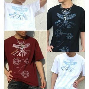 Tシャツ 鷹 半袖 長袖 XS S M L XL XXL XXXL 2L 3L 4L サイズ メンズ レディース White Cogweel|genju|02