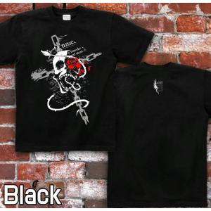 Tシャツ スカル ドクロ 髑髏 骸骨 半袖 長袖 XS S M L XL XXL XXXL 2L 3L 4L サイズ メンズ レディース ROSE BLOOD|genju|04