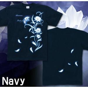 Tシャツ 花柄 きれいめ 半袖 長袖 XS S M L XL XXL XXXL 2L 3L 4L サイズ メンズ レディース Precious|genju|03