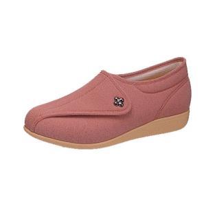介護靴 婦人用 快歩主義L011(レンガストレッチ)アサヒコーポレーション