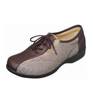 婦人用らくらくL007(ブラウン)ムーンスター 介護靴