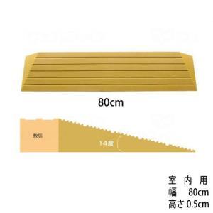 [W462006] 段差解消スロープ「タッチスロープ」シンエイテクノA-幅80cm×高さ0.5cm