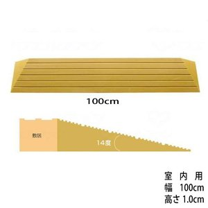 [W462006] 段差解消スロープ「タッチスロープ」シンエイテクノD-幅100cm×高さ1cm