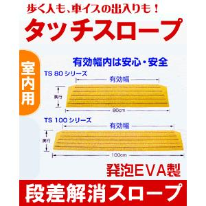 [W462006] 段差解消スロープ「タッチスロープ」シンエイテクノK-幅80cm×高さ3cm