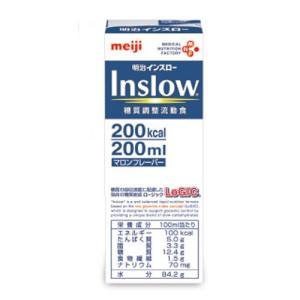 明治インスロー Inslowマロンフレーバー200mlx24本糖質調整流動食糖質調整栄養補助食品濃厚流動食