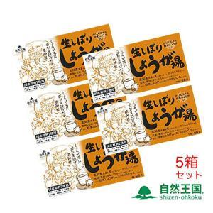 株式会社協和自然王国生しぼりしょうが湯5箱セット(1箱18g×20袋)ショウガ湯 生姜湯