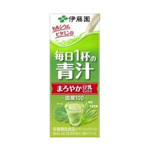 伊藤園 毎日1杯の青汁(有糖)紙パック 200ml×24 まろやか豆乳ミックス|genki
