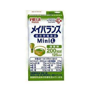 メイバランスミニ(125ml24個入り)抹茶味(栄養機能食品 亜鉛・銅)明治乳業