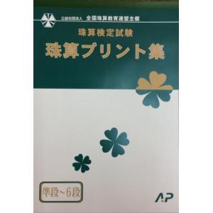 AP【全珠連】◆珠算 ミニ段位・6段まで プリント集 (大判B4)